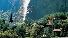 Lauterbrunnen is situated in one of the most impressive trough valleys in the Alps, between gigantic rock faces and mountain peaks. With its 72 thundering waterfalls, secluded valleys, colourful alpine meadows and lonely mountain inns, the Lauterbrunnen Valley is one of the biggest nature conservation areas in Switzerland.