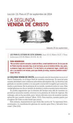 Leccion la segunda venida de cristo by Escuela Sabatica via slideshare. #LESAdv Descargue aqui: http://gramadal.wordpress.com/