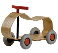 The Sirch SIBIs Max Ride on Car is a simple children's wooden ride on car from award winning Germany toy designers Sirch. The SIBIs Max Ride on Car is made from steam bent ash wood, that not only look great but is extremely durable. Wooden Car, Wooden Toys, German Toys, Ride On Toys, Modern Kids, Decoration Design, Designer Toys, Kids Store, Christmas Gifts For Kids