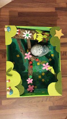 Activité créative sur le thème de totoro - Tutoriel de diorama dans une boîte à…