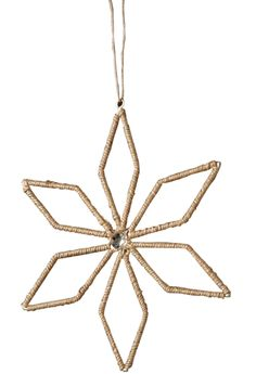 French Market Holiday Jute Lurex Poinsettia Christmas Ornament (Set of 12)