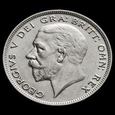 1929 George V Silver Half Crown - EF