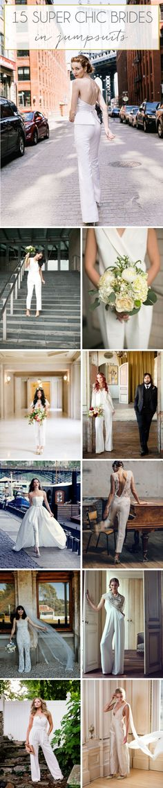 15 Chic Brides in Jumpsuits & Pantsuits | SouthBound Bride | http://southboundbride.com/chic-brides-in-jumpsuits-pantsuits