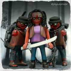 Michonne and Pet Zombies #playmobil#thewalkingdead#mywalkingdeadcollection #playtutomobil