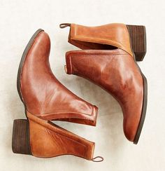 interesting ankle leather boots