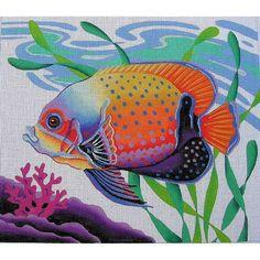 PT1  Angelfish  13M 14x16  Julia's Needlework (wholesale)