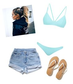 """""""Untitled #3"""" by thousandimaginaryworlds ❤ liked on Polyvore featuring Levi's, Bower and Hollister Co."""