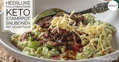 Stamppot snijbonen met gehaktsaus - TheNewFood Go For It, New Recipes, Cabbage, Grains, Rice, Keto, Vegetables, Weight, Food