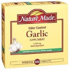 Nature Made Odor Control Garlic 1250 mg Garlic Equivalent - 300 Tablets Healthy Snacks For Adults, Easy Healthy Recipes, Garlic Supplements, Best Herbal Tea, Tablet Reviews, Normal Blood, Cardiovascular Health, Cholesterol Levels, Heart Health