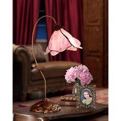 Dale Tiffany Pink Petal Downbridge Desk Lamp - #68278   LampsPlus.com