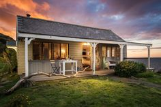 Stay in this unique rough-luxe beach shack in North Cornwall and discover the simplicity of living in an Area of Outstanding Natural Beauty in a traditional yet chic Cornish beach shack. Coastal Cottage, Coastal Living, Tiny Living, Luxury Couple, Cornwall Beaches, Beach Shack, Beach Huts, North Cornwall, English House