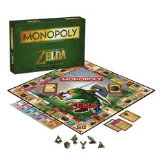 The Legend of Zelda version of Monopoly! Incorporating influences from the series of video games that extend from all platforms, The Legend of Zelda Monopoly features board art that fans will love. Choose from 6 collectible game tokens inspired by the games.