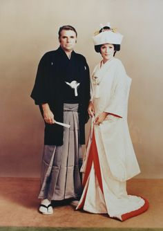 Gene Roddenberry and Majel Barrett wedding photo - UH, how have I not seen this before. Gene really was out there.