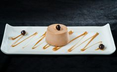 Gianduja delice, Frangelico anglaise and chocolate coffee bean.
