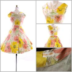 bitter root vintage / the sweetest thing 1950's vintage garden party dress - m