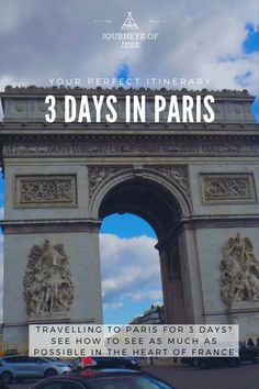 Looking for things to do in Paris? See my itinerary of how to spend 3 days in Paris and see as much as possible. #thingstodoinparis #visitingparis #visitingparisfor3days #travellingtoparis