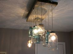 DIY Mason Jar Chandelier Idea