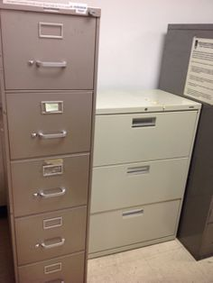 METAL CABINETS, ASSORTED SIZES, ASSORTED BRANDS, GRAY, WHITE ...