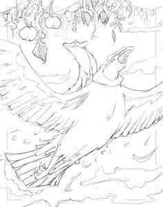 Boceto 02 - Relatos indígenas Children's Book Illustration, Concept Art, Sketch, Conceptual Art