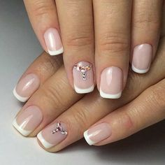 Ideas Classic French Manicure Gel Art Designs For 2019 Glitter French Manicure, Manicure Tips, Manicure And Pedicure, Nail Tips, Gel Nails, Glitter Nails, Gel Manicure Designs, French Pedicure Designs, Nail Art Designs