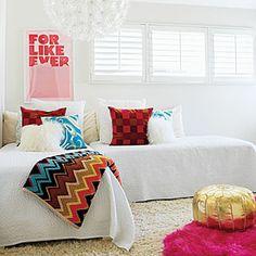 Family Fun House | Pops of Color | CoastalLiving.com