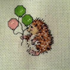 little critter hedgehog crossstitch