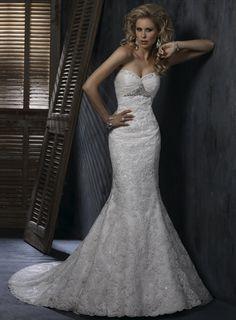 Sweetheart Trumpet / Mermaid Ruffle Lace bridal gown,wedding designers,wedding designers,wedding designers