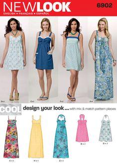 afca10da 6902 Miss Dress, Summer Dresses For Women, Outfits For Teens, New Look Dress