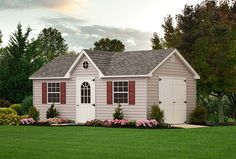 This vinyl dormer would be perfect for a home office space! Vinyl Storage Sheds, Vinyl Sheds, Shed Storage, Built In Storage, 12x20 Shed Plans, Wood Shed Plans, Free Shed Plans, Art Shed, Custom Sheds