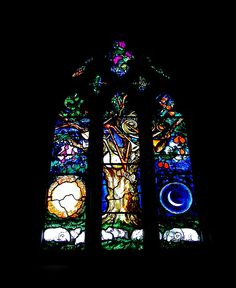 John Piper Window    A homage to William Blake's book of Job was installed in 1985