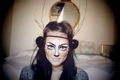 Cooles Halloween oder Faschings Make up. Noch mehr Ideen gibt es auf www.Spaaz.de