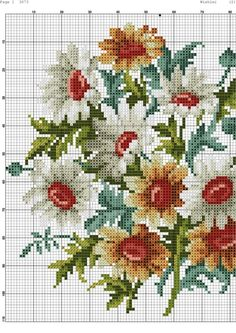 Gallery.ru / Фото #4 - 194 - kento Cross Stitch Borders, Cross Stitch Flowers, Cross Stitch Designs, Cross Stitching, Cross Stitch Patterns, Embroidery Flowers Pattern, Hand Embroidery Stitches, Cross Stitch Embroidery, Embroidery Designs