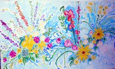 """""""Healing Touch of Spring,"""" Acrylic by Andrea de Kerpely-Zak size: 36 x 60"""