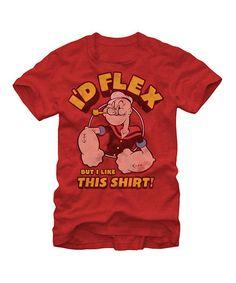 Look what I found on #zulily! Red Heather 'I'd Flex' Tee - Men #zulilyfinds