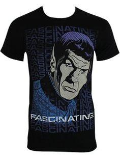 Star Trek Fascinating Mens Black T-Shirt