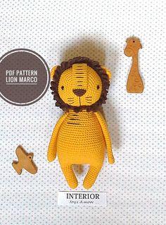 pdf pdf pattern crochet pattern lion pattern toy pattern