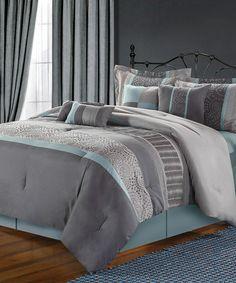 Blue Euphoria Comforter Set #zulily #zulilyfinds