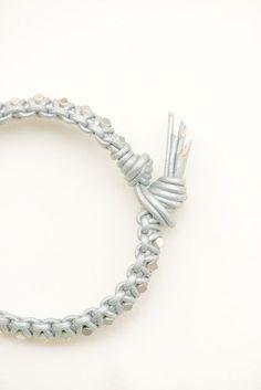Leather Bracelet tutorial must try! @ecrafty #ecrafty #diybracelets #braceletsupplies