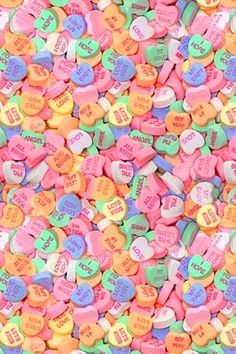 Candy hearts I used to collect candy heart items