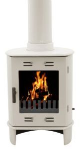 i wish i could exchange my huge '70s woodstove for this one.  carron cream enamel dante 5kW smoke exempt multifuel stove.  $1254