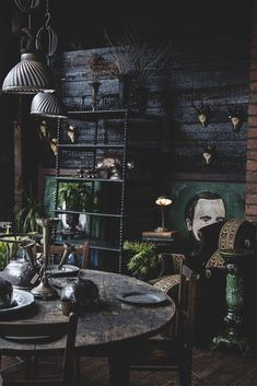 just loving this corner of the shop at the minute. The black gloss and all the rich greens. #BlackLivingRoom #DarkLivingRoom #LivingRoom #Decor #Ideas #DarkLivingRoomIdeas