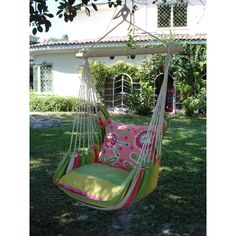 Magnolia Casual Fresh Lime Hammock Chair with Pillow Set - Hammock Chairs & Swings at Hayneedle