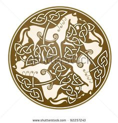"Ancient celtic symbol of ""Epona"", celtic goddess."