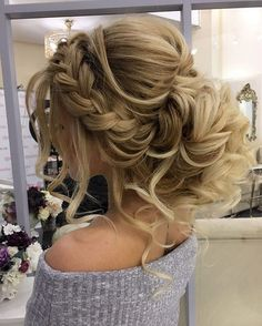 Gorgeous Braided Wedding Hairstyle Wedding Hairstyle for long hair bride This elegant wrapped chignon is the perfect second-day hairstyle idea! .