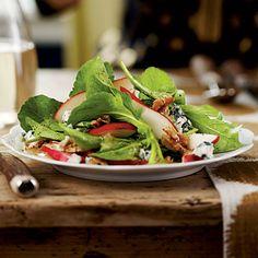 Arugula-Pear-Blue Cheese Salad