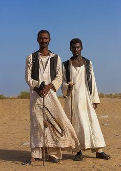 Beja tribe Men, Port Sudan, Sudan