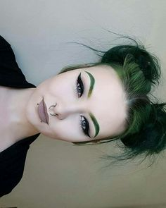 Don't love the green but I appreciate the quality of the dying and the matching brows are *hopefully* the future