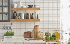 Cozinha azulejo de metrô