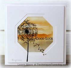 I absolutely love her work.......she makes the least complicated cards elegant..........Good Luck Window Card