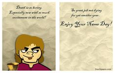 Game Of Thrones Name Day Greeting Cards